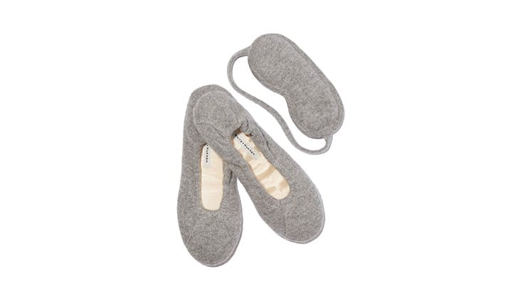 White and Warren Eye Mask and Slipper Set