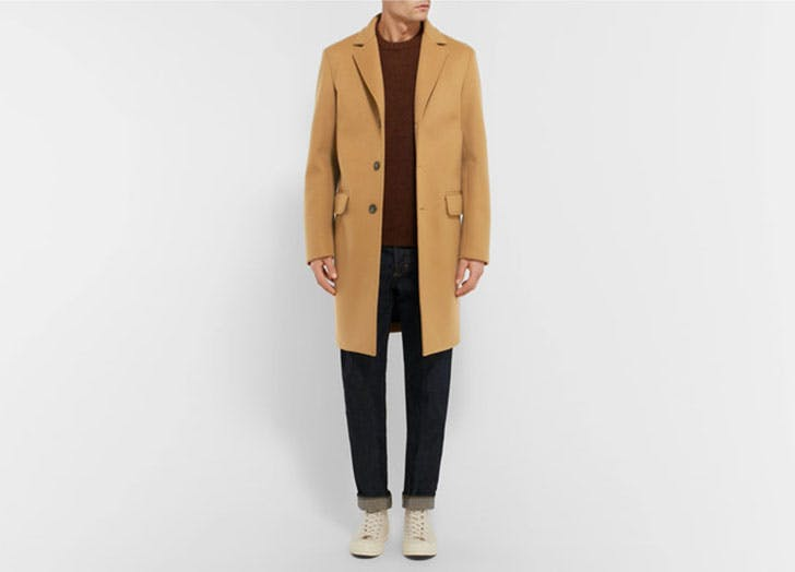 Wool Blend Felt Overcoat from Mr Porter