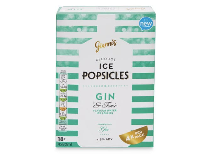 aldi gianni gin ice pops 501