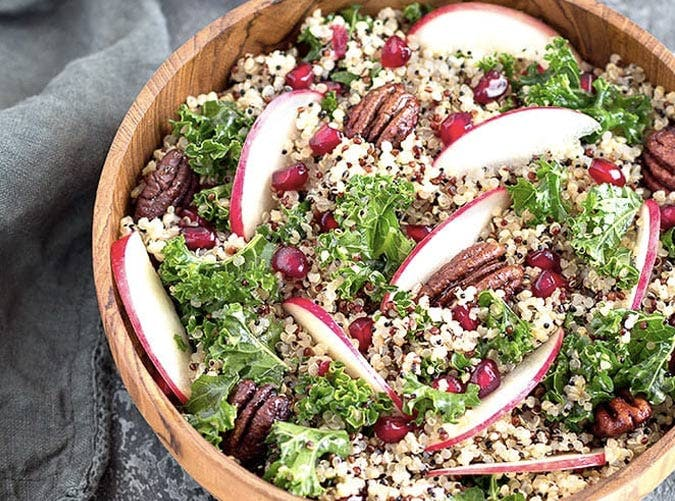 apple kale quinoa salad recipe 501