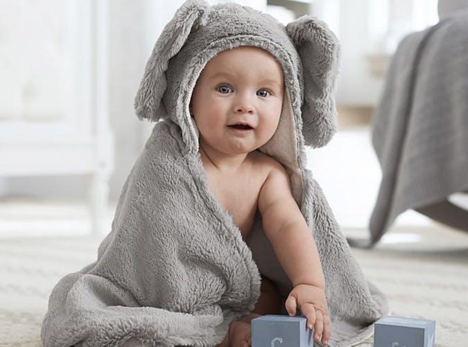 baby in elephant nursery Wrap 501