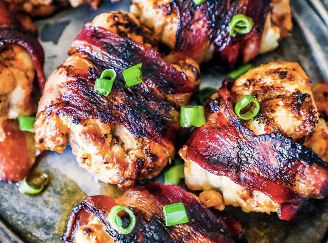 bacon balsamic glazed chicken thighs recipe