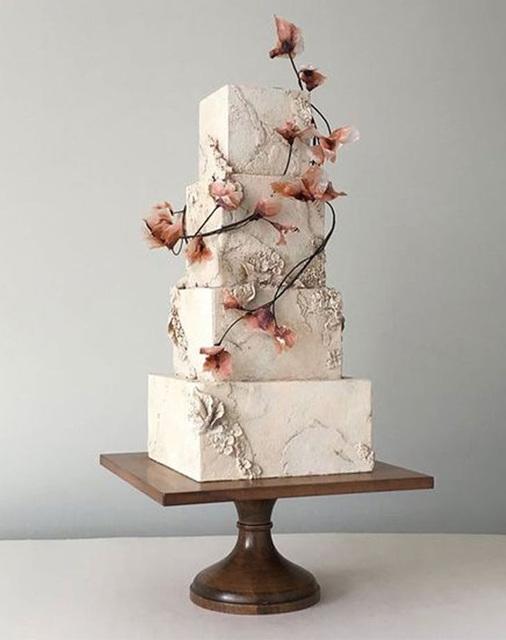 bas relief cakes wedding trend 7