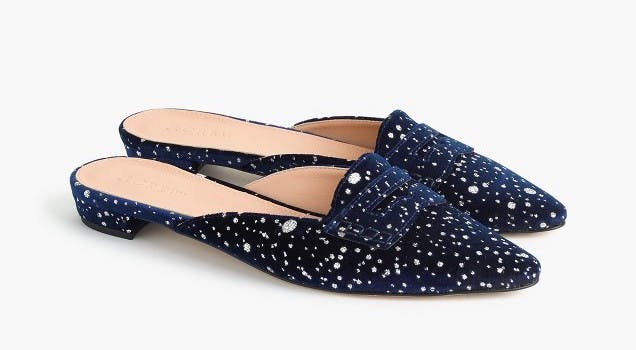 best things to buy at jcrew glitter loafers