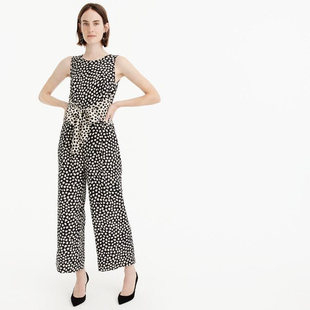 best things to buy at jcrew polka dot jumpsuit