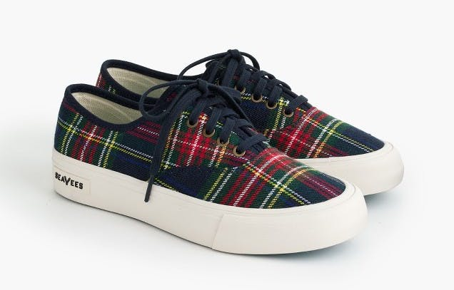 best things to buy at jcrew tartan sneakers