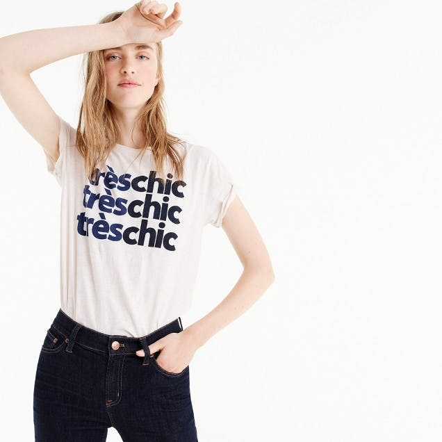 best things to buy at jcrew tres chic tshirt