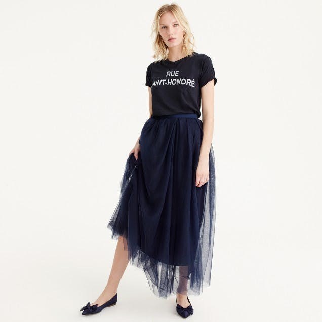 best things to buy at jcrew tulle skirt