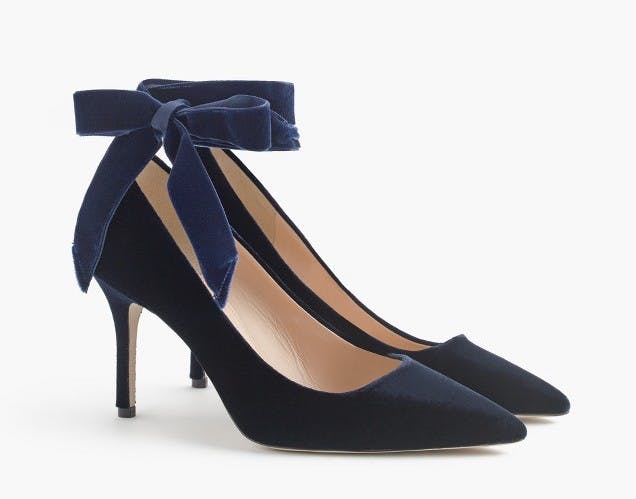 best things to buy at jcrew velvet heels