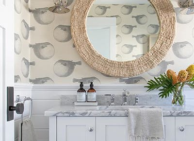 Blowfish Wallpaper Is The Bathroom Trend We Needed Purewow