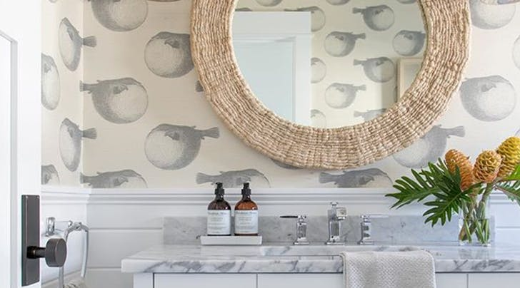 blowfish wallpaper bathroom trend HERO