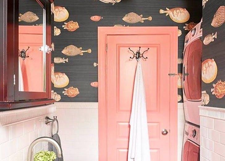 blowfish wallpaper pink