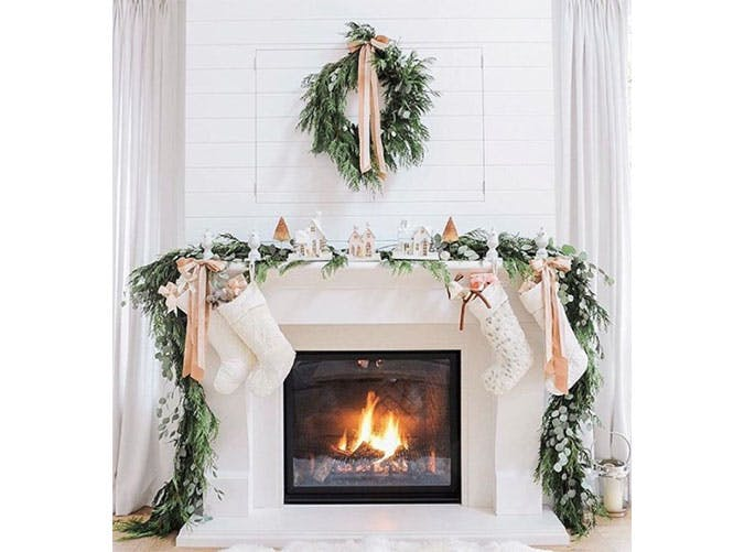 blush holiday decor.