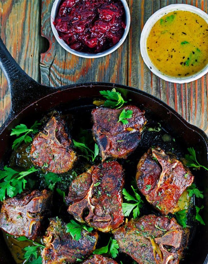 braised lamb chop