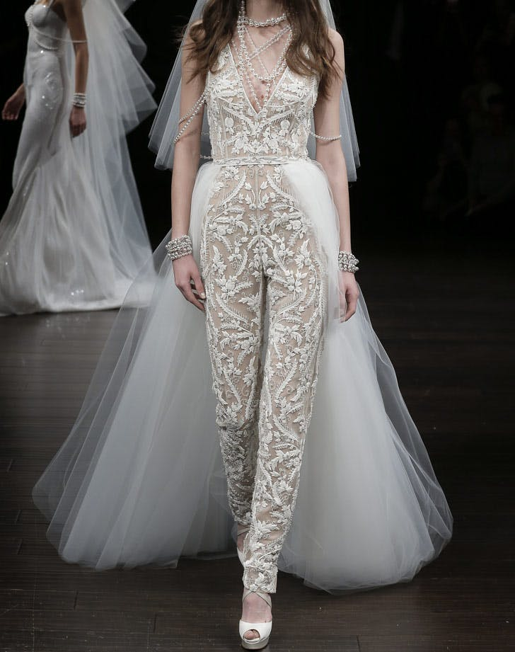 bridal sheer embroidered jumpsuit LIST