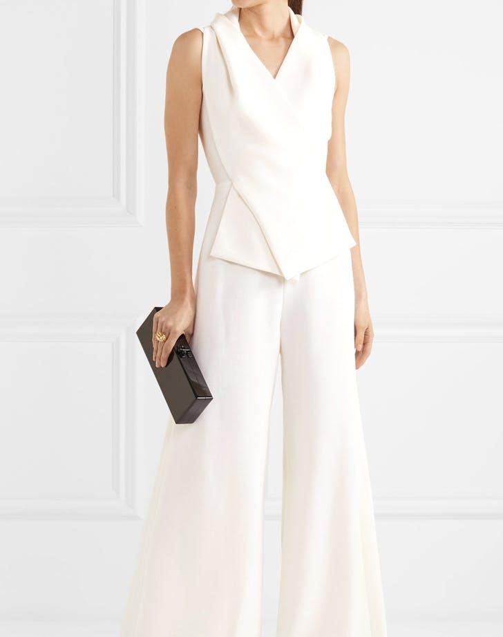 bridal tailored jumpsuit wedding dress alternative LIST