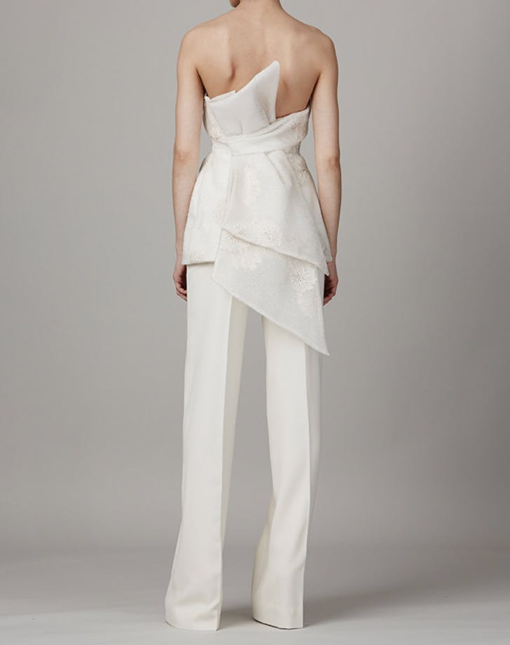 bridal wedding dress alternative sculptural jumpsuit LIST
