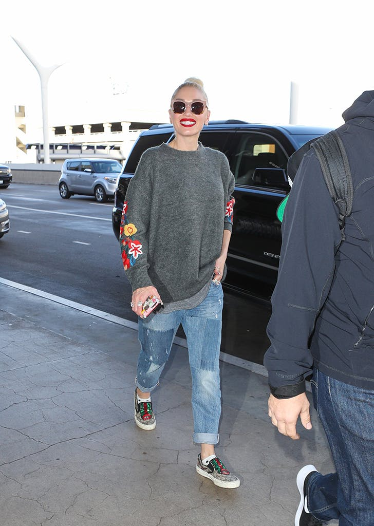 celebrity travel style gwen stefani