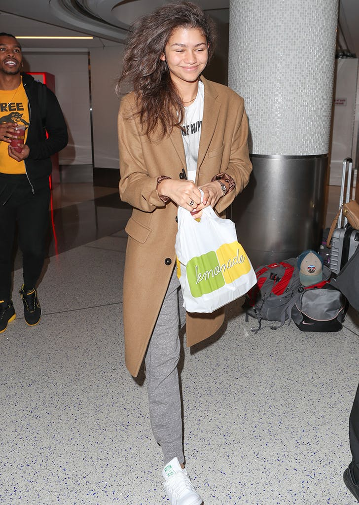 celebrity travel style zendaya