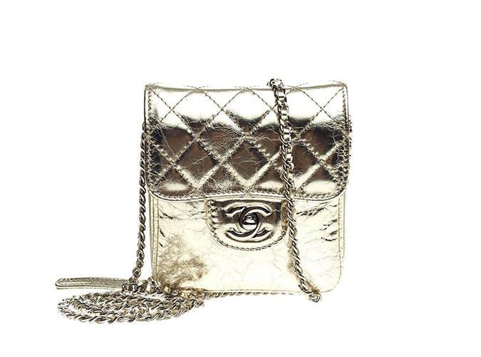 chanel silver mini