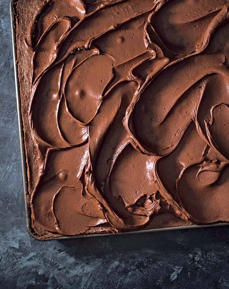 "Chocolate ""High-Ratio"" Sheet Cake"