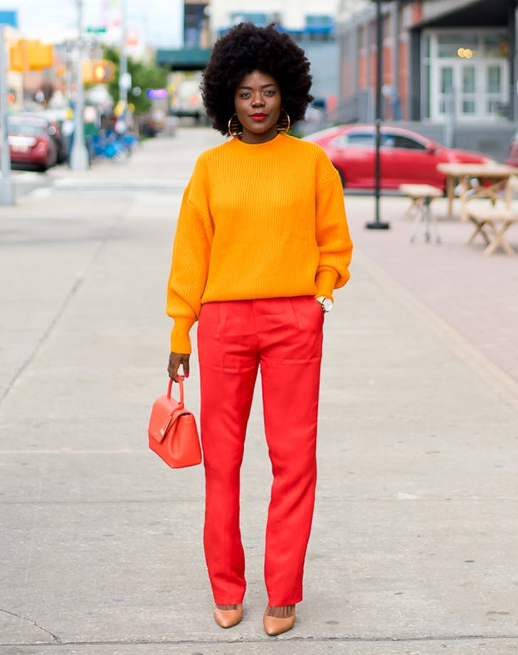 colorblocking december outfit ideas