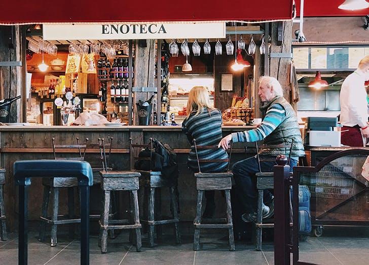couple at bar 1