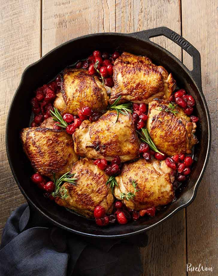 balsamic cranberry roast chicken recipe purewow