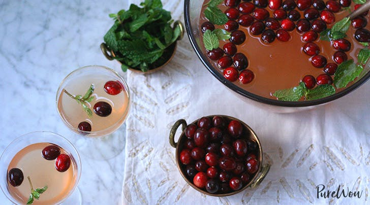 Cranberry-Mint Holiday Punch