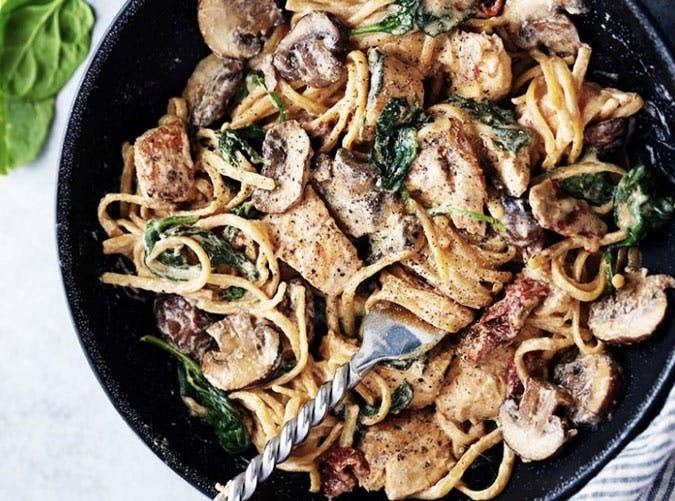 creamy chicken florentine pasta 501