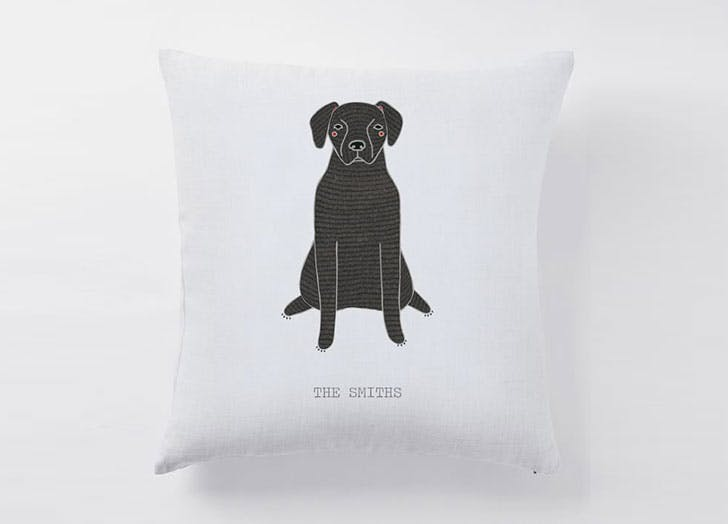 dog gift guide pillow cover
