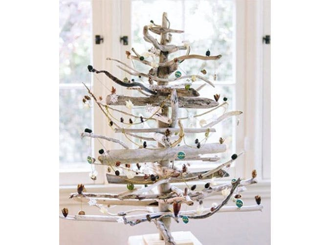 driftwood holiday decor.