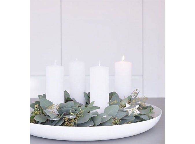 eucalyptus holiday decor.