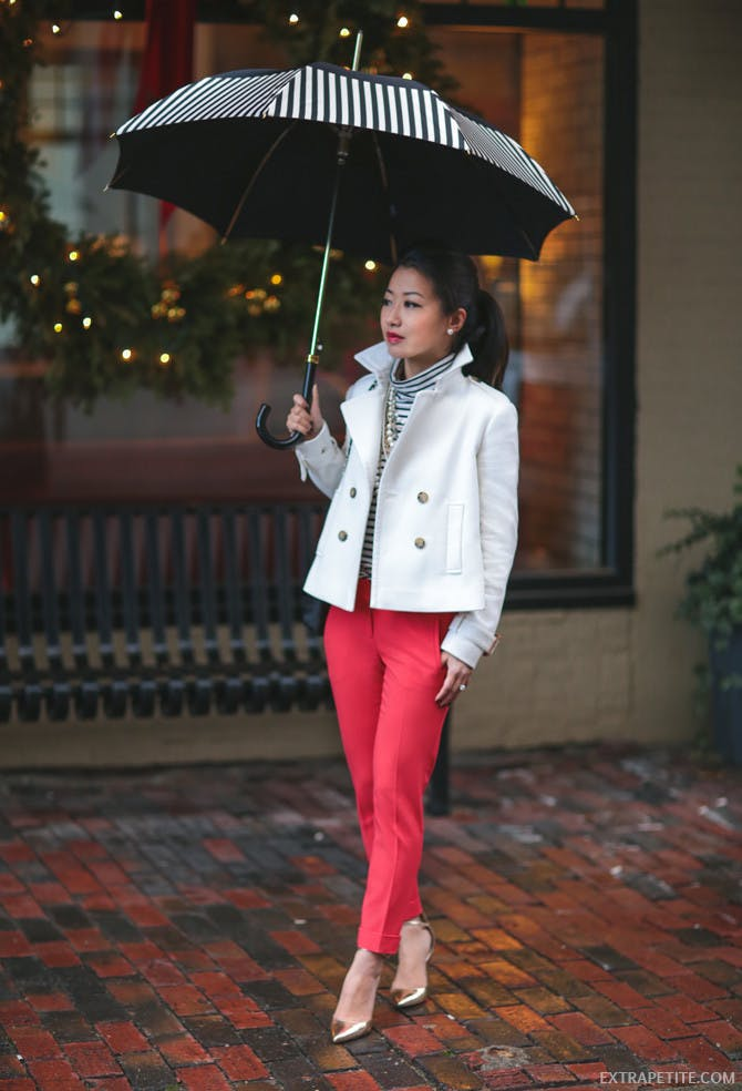extra petite cropped winter coat december outfit ideas