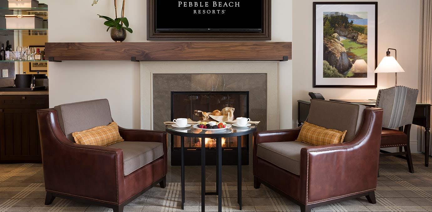 fairway one at the lodge pebble beach fireplace WIDE