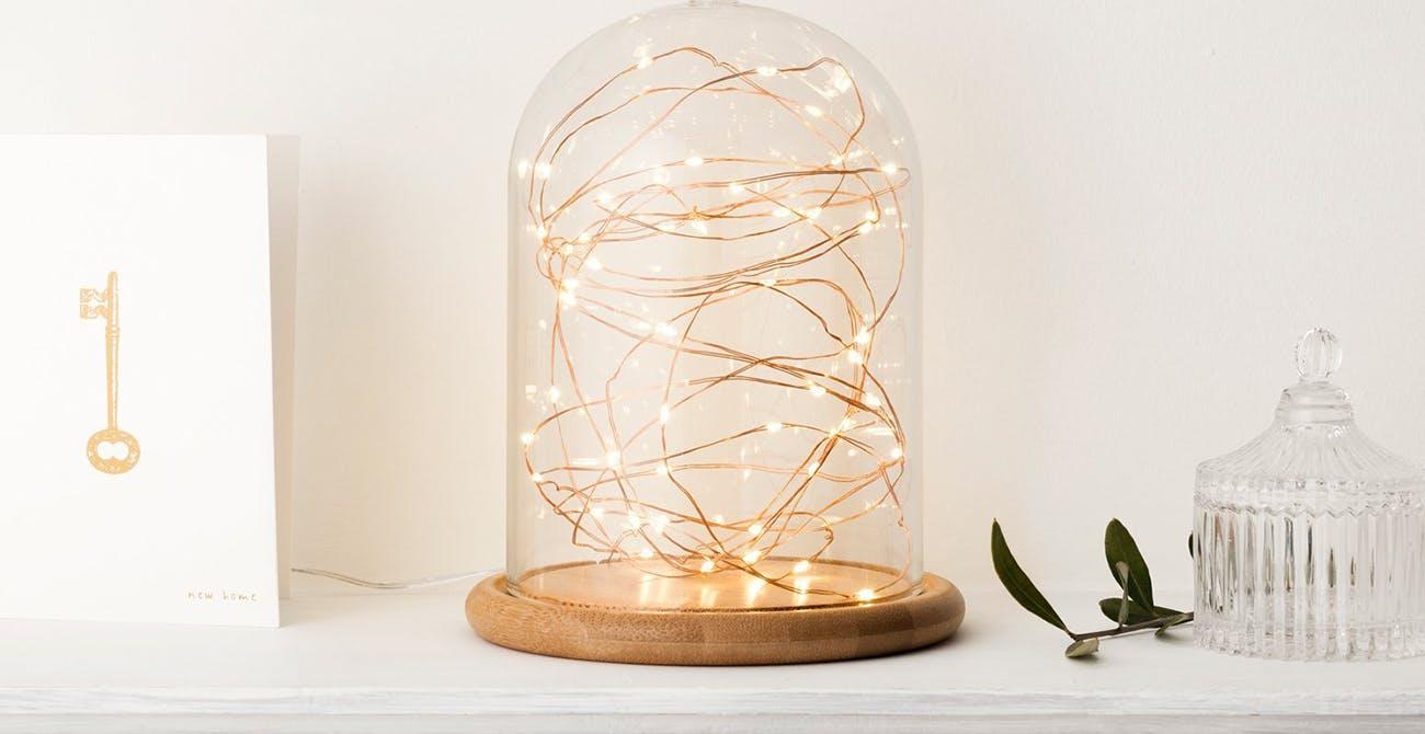 fairy lights jar
