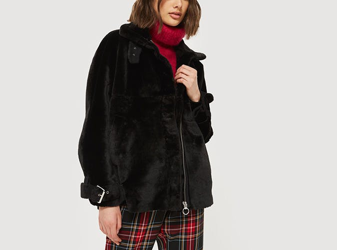 faux fur coats topshop