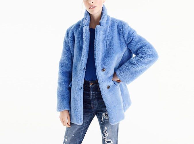 faux fur jcrew