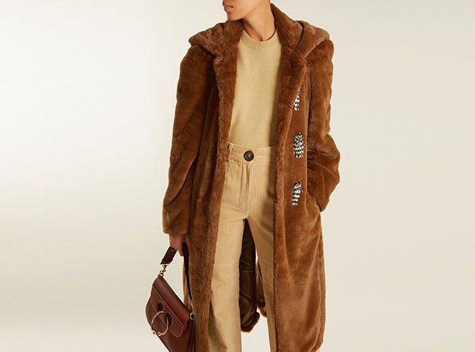 faux fur toga