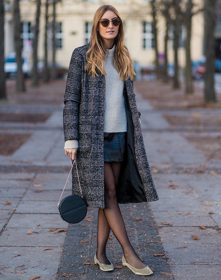 fishnet miniskirt