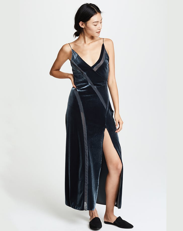 free people velvet slipdress holiday dresses