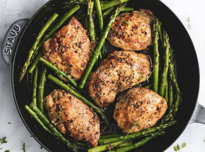 garlic herb chicken and asparagus recipe 501
