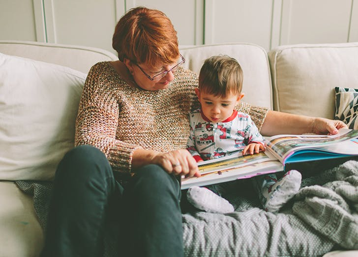 grandparent reading