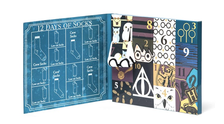 The Holidays Have a New Countdown Calendar: 12 Days of 'Harry Potter Socks