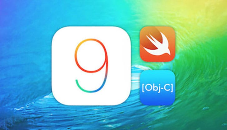 iOS 9 and Xcode 7 Guide  Make 20 Apps online course logo from Technabob