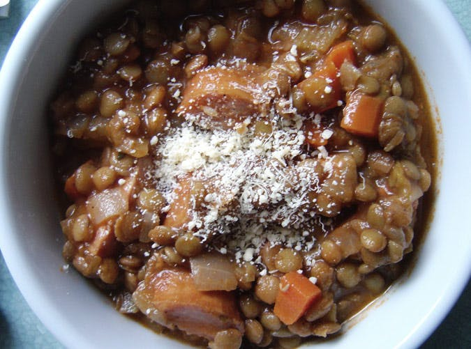 ina garten lunch lentil sausage soup recipe 5012