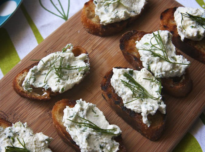 ina garten lunch recipe herbed ricotta bruschetta 501