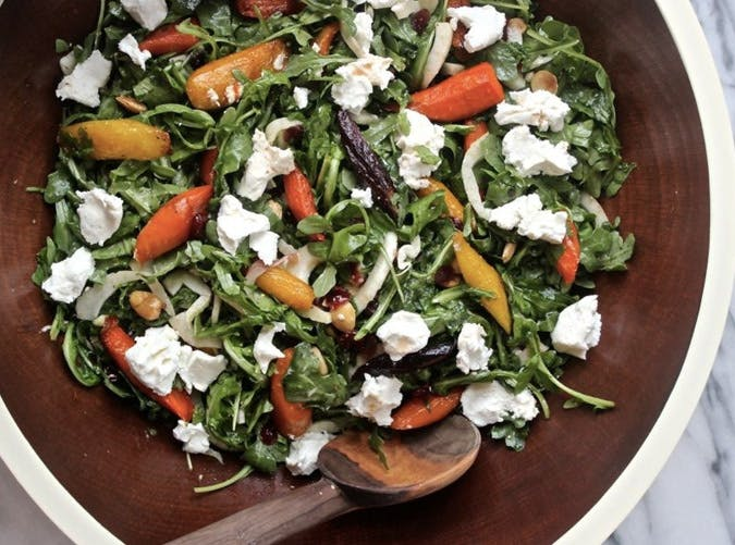 ina garten lunch recipe maple roasted carrot salad 501