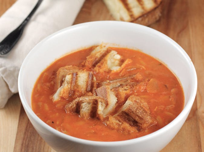 ina garten lunch tomato soup grilled cheese croutons recipe 5011