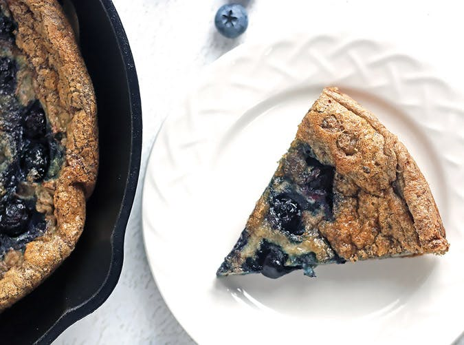 ketogenic breakfast blueberry skillet egg bake 501
